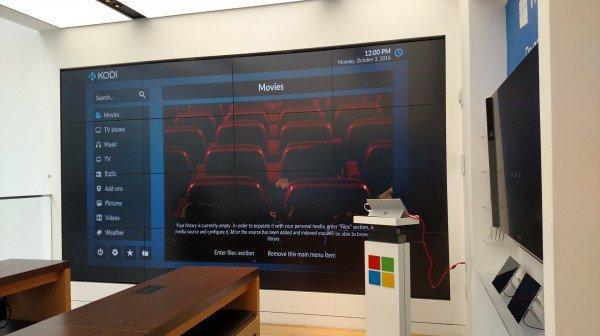 kodi na dużym ekranie