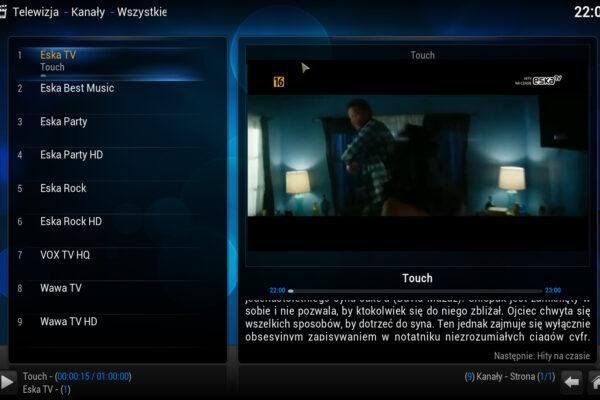 Własna lista kanałów IPTV z użyciem wbudowanej wtyczki w KODI